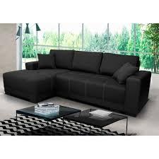 divan canapé canapé lido noir gauche sofa divan achat vente canapé sofa