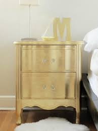 gold leaf home decor ideas for updating an old bedside tables glass knobs