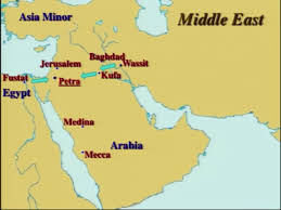 Islam World Map by Apologika Why Did The First Muslims Pray Towards Petra