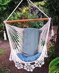 amazon com wonderful crochet hammock chair swing 100 handmade