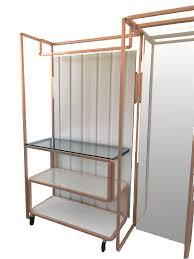 beige red exhibitor wardrobe cm 160x40x200h