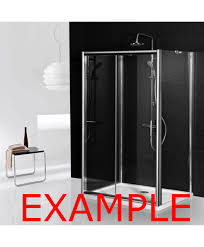 aqua i 3 sided shower enclosure 700mm bifold door and 700mm side