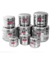 aristo steel big container 9 pcs sets with design 0 5 to 4 25