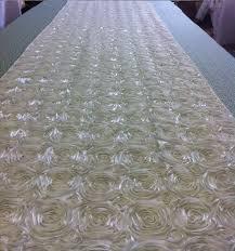 Custom Made Ivory Tafetta Rosette Aisle Runner 22 Feet Long 52