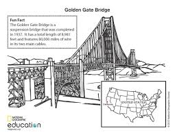 printable coloring pages golden gate bridge