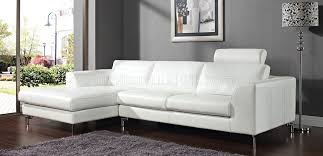 Sectional Loveseat Sofa Angela Sectional Sofa In White Leather By Whiteline