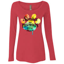 personalized scoop rainbow pawprints on my heart personalized scoop neck