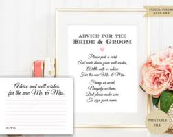 wedding well wishes cards wedding advice cards etsy
