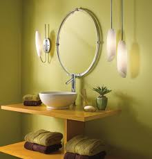 Vanity Light Ideas Bathroom With Hanging Pendants And Wall Sconce Good Vanity