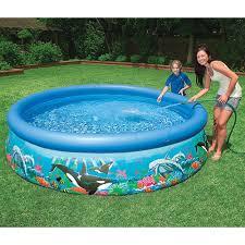 Intex Inflatable Swimming Pool Intex Ocean Reef Pool Review Pools And Tubs