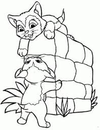 kittens shoe coloring pages printable color book pinterest