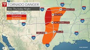 World Map Of Tornadoes by Severe Weather Outbreak Intense Tornadoes To Rip Through Kansas