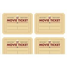 free printable movie ticket template best 25 ticket template