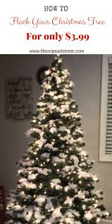 cheap christmas tree flocking your christmas tree for 3 99 pearl designs