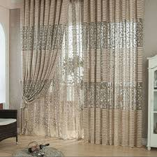 interior living room curtains ideas with elegant sofa and chair