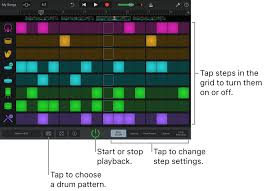 drum pattern for garageband garageband for ios ipad create drum patterns with the beat sequencer