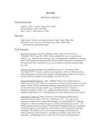 Resume For Veterinarian Cover Letter Veterinary Resume Examples Veterinary Technician