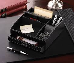 Leather Desk Organizer by Black Desk Organizer With Drawers Best Home Furniture Decoration