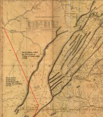 Map Of Jamestown Virginia by Key Treaties Defining The Boundaries Separating English And Native