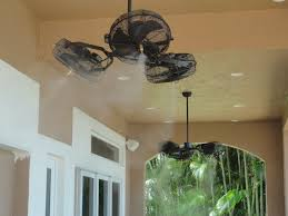 commercial outdoor ceiling fans the misting store tri mist misting celling fans get a