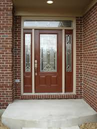 furniture exterior wood entry door with frosted glass insert and