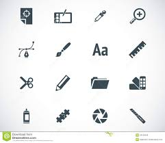 design icons vector black graphic design icons royalty free stock photos