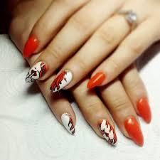 15 nail designs orange 18 pretty orange nail designs pretty