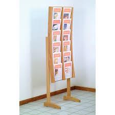 furniture literature floor display rack tier brochure holder