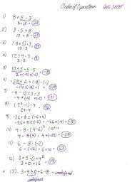 Ged Worksheets Cobb Ed Math Order Of Operations Worksheet Solutions