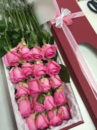 Long Stem Rose Beautiful Long Stem Roses In Box 12 Or 20 Flower Gift Korea