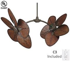 dual fan ceiling fan twin motors adjustable heads and a blast of the tropics make the