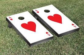 ace of hearts poker regulation bean bag toss game