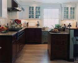 dark bottom light top w blue accents kitchen ideas pinterest