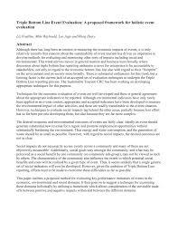 triple bottom line event evaluation a proposed framework for