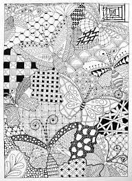 owl butterflies zentangle coloring books inspirational