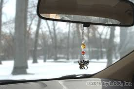bling butterfly gem rear view mirror hanging car charm