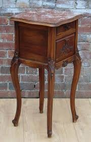 marble top bedside table antique 19th century french walnut marble top bedside cabinet