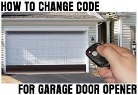 Reprogram Garage Door Opener by How To Change Reset The Code For Your Garage Door Opener