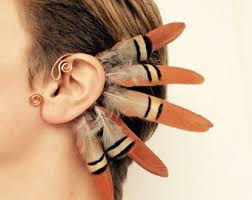 how to make feather ear cuffs feather ear cuff etsy