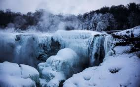 partially frozen niagara falls american side