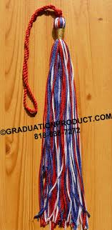custom graduation tassels white blue graduation tassel with metallic wrap