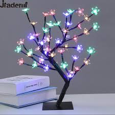 jiaderui 45cm 36led 48led cherry blossom desk top bonsai tree