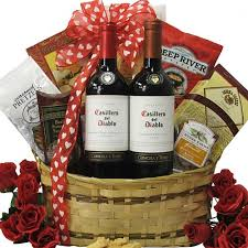wine gift basket ideas lover chilean duet s day wine gift basket