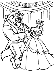 best cartoon disney beauty and the beast coloring pages