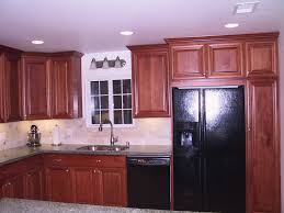 top high quality laminated finish kitchen cabinet in kitchen