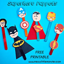 superhero puppet craft messy monster