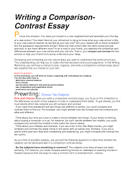 compare and contrast essay sample thesis example of compare and contrast essay writing compare contrast essay point point example