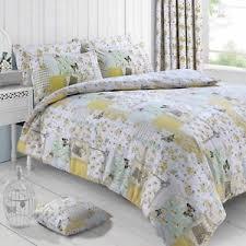Patchwork Duvet Sets Cream Lemon Boutique Floral Patchwork Duvet Set Quilt Bedding