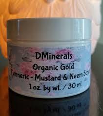 Scrub Gold organic gold turmeric mustard neem scrub 1 oz