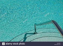 Swimming Pool Handrails Stairs And Handrail Leading Into Swimming Pool Stock Photo